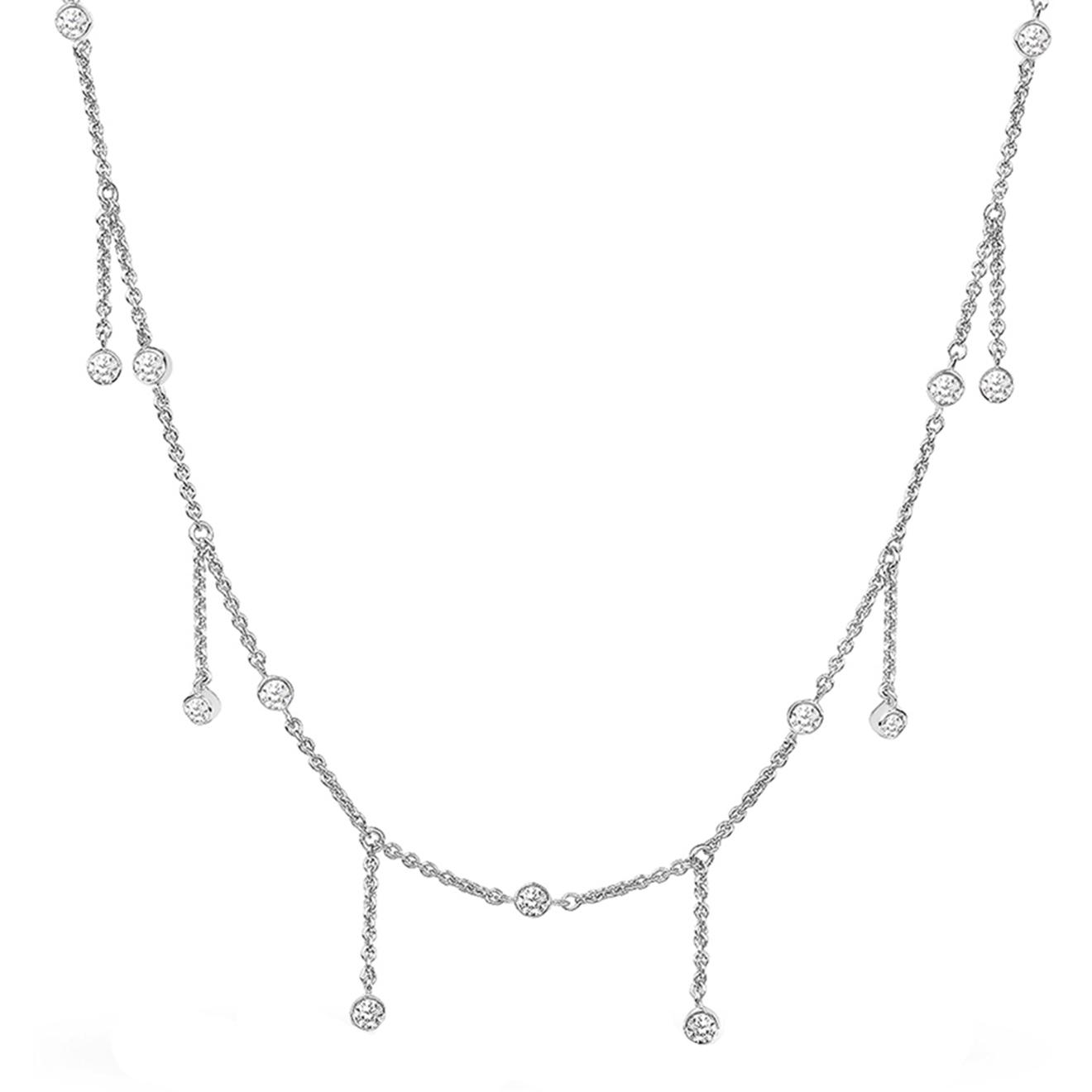 LAVZ Серебряное колье Chain Drops Choker, из коллекции Universe