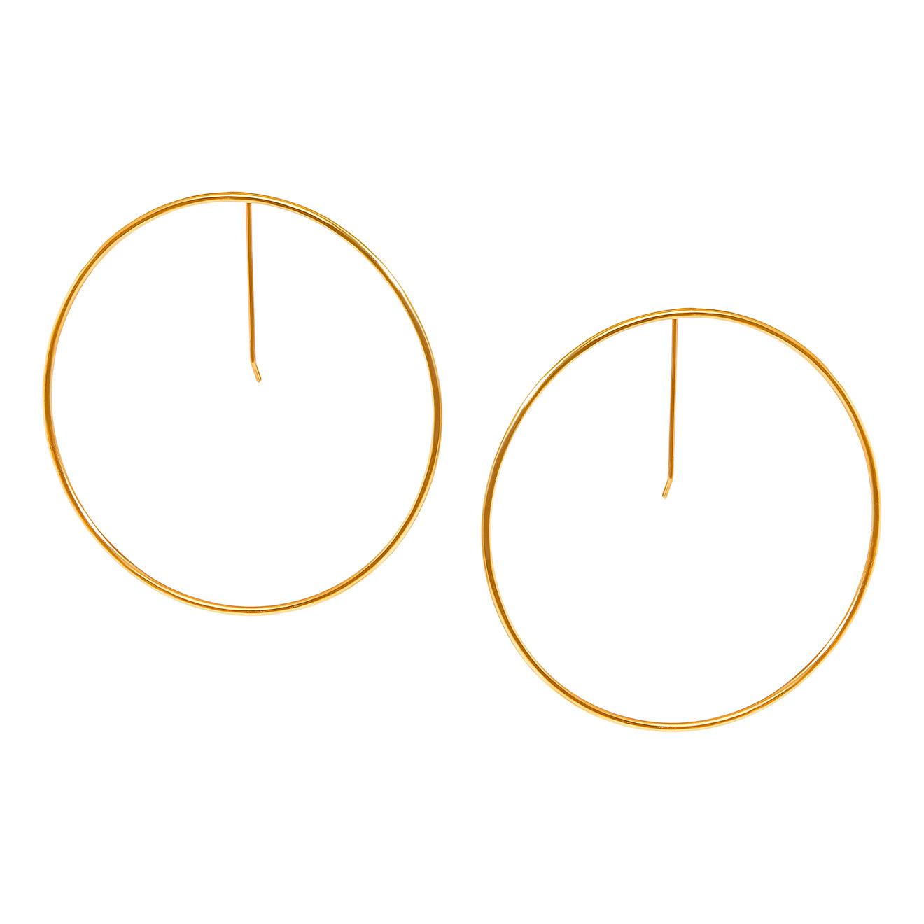 Khoshtrik Большие позолоченные серьги-круги