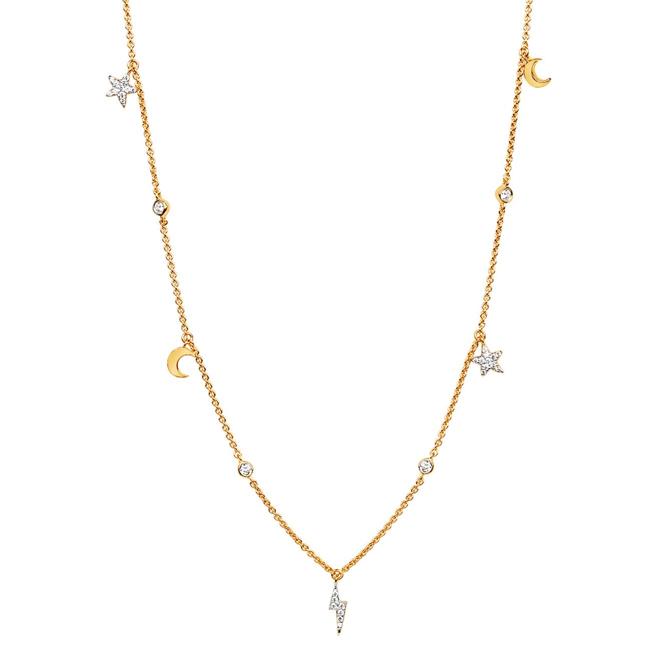 LAV'Z Позолоченное колье Universe Necklace, из коллекции Universe pantone universe сандалии
