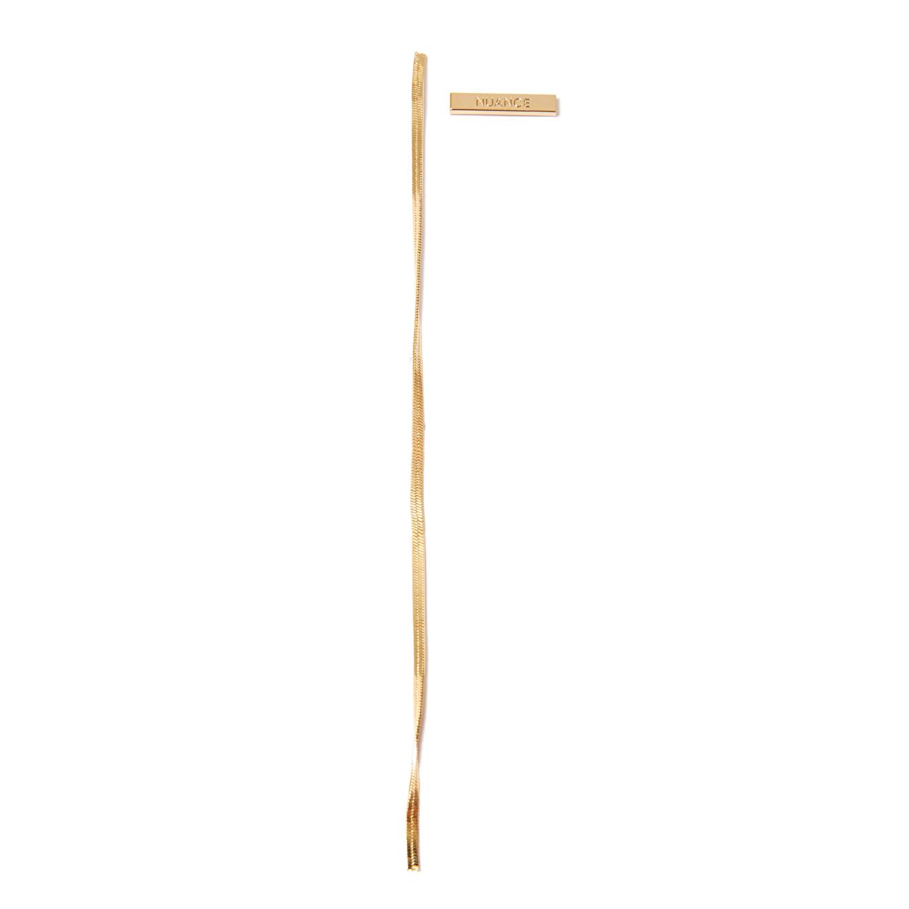 Nuance Асимметричные золотистые серьги с цепочкой