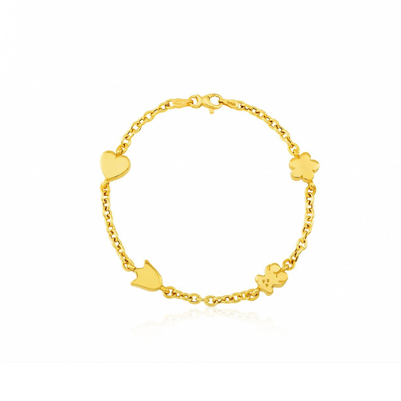 tous браслет glory из золота с перламутром tous TOUS Браслет Sweet Dolls из желтого золота