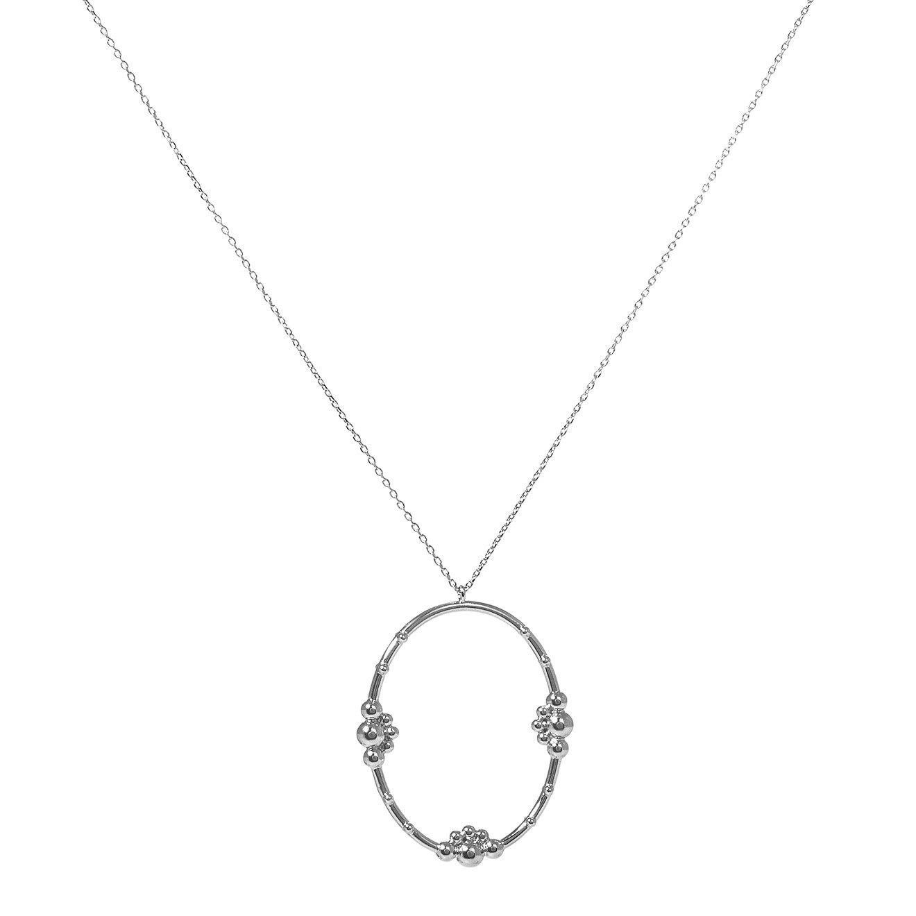 Mya Bay Покрытое серебром колье «Samula»