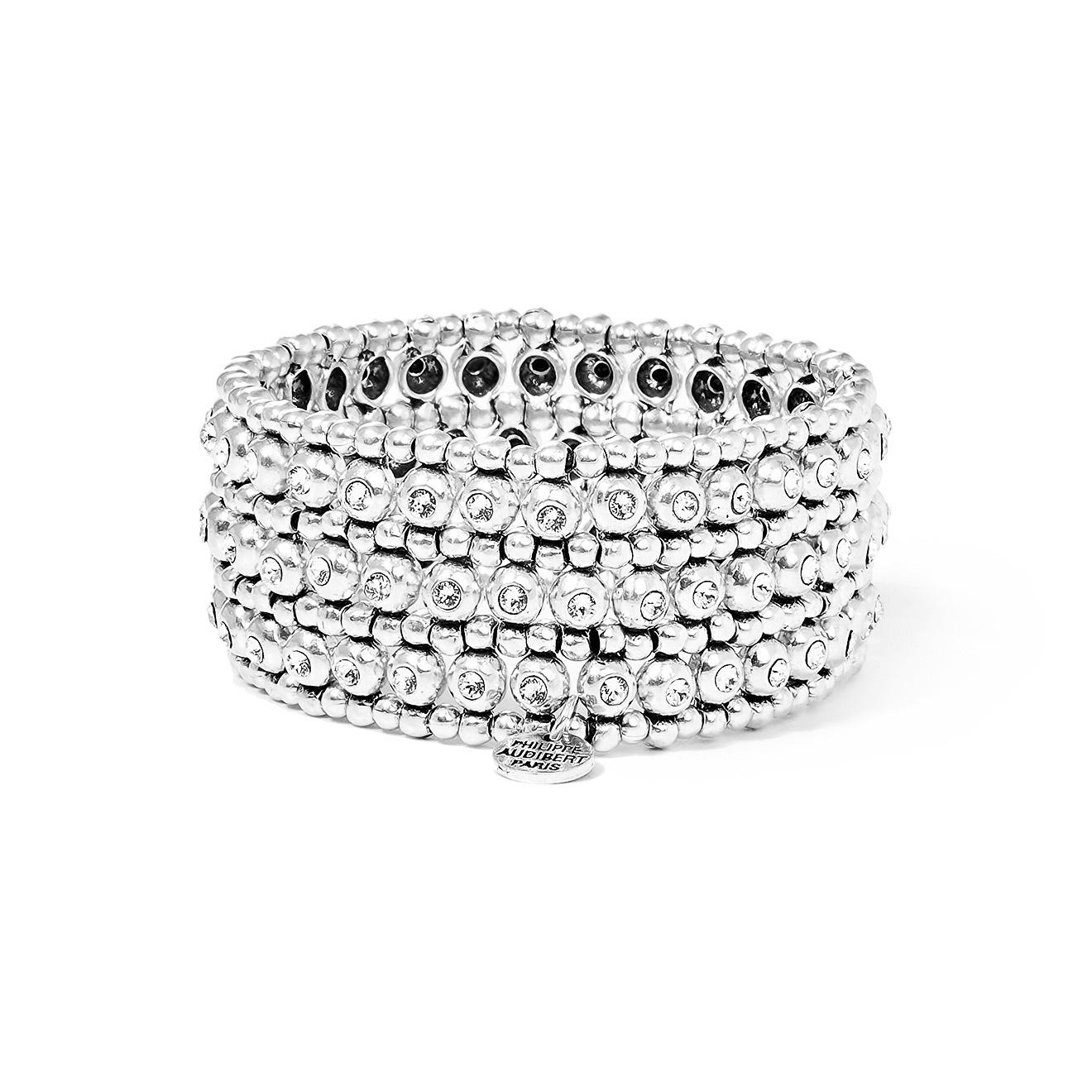 Philippe Audibert Серебристый браслет Bay с кристаллами