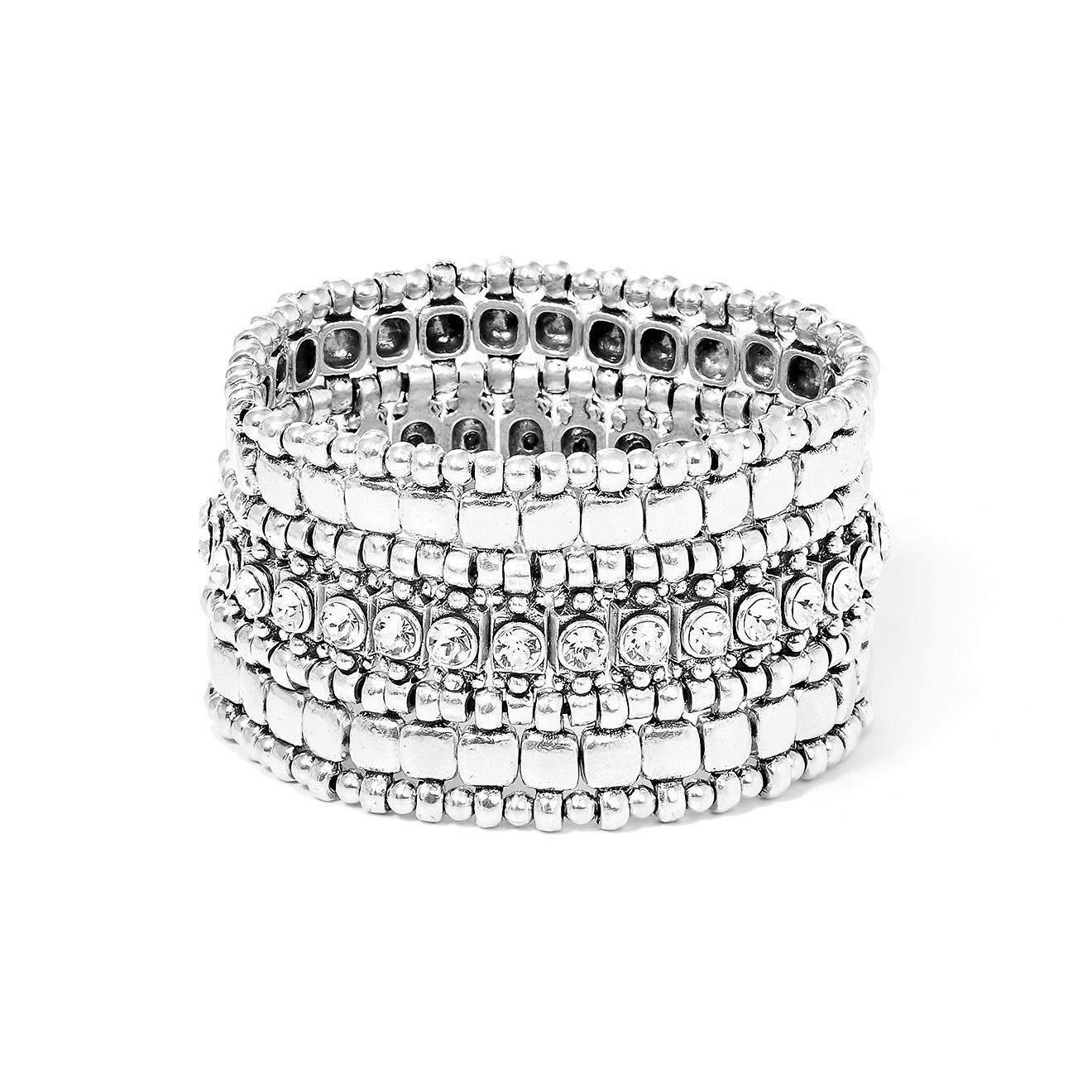 Philippe Audibert Серебристый браслет Roselynette с кристаллами