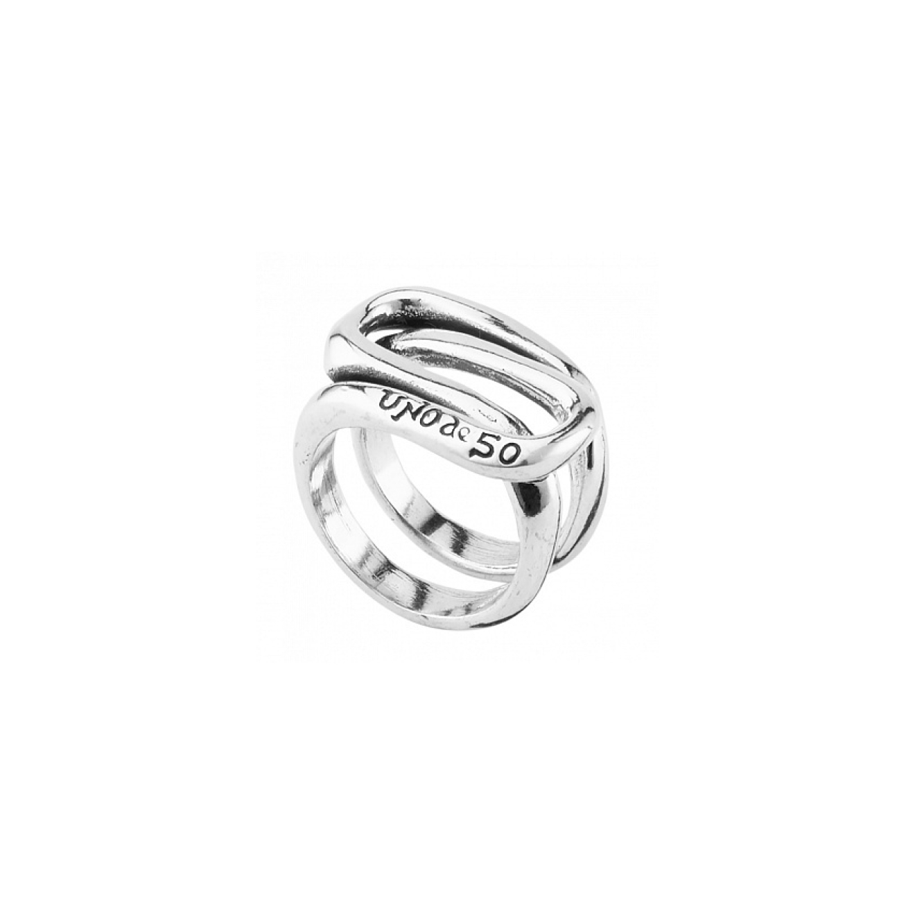 Unode50 Серебристое кольцо Trapped, из коллекции Eternal недорого