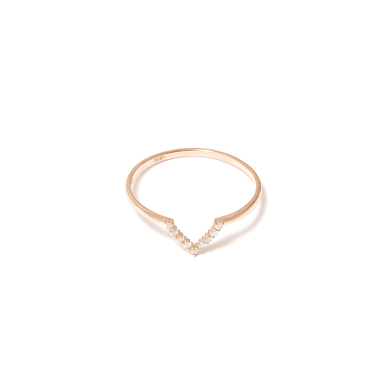 Moonka studio Золотое кольцо с бриллиантами, из коллекции Opalescence