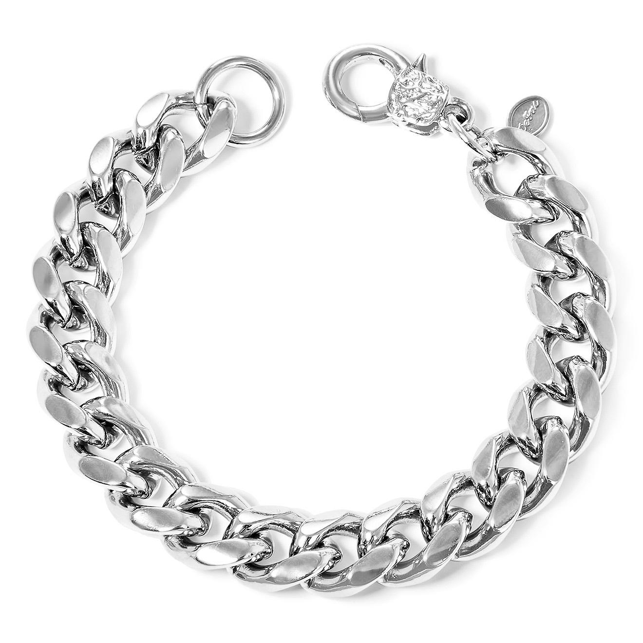 Aqua Серебристый браслет-цепь