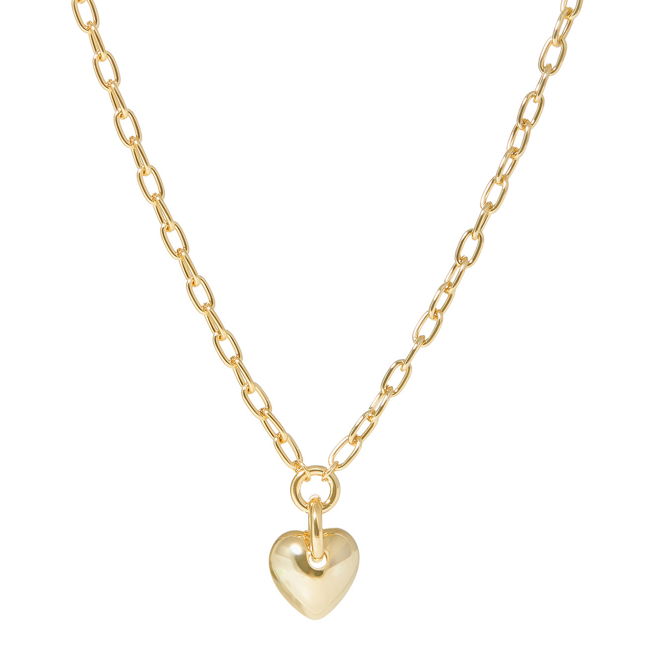 Lisa Smith Золотистое колье-цепь с подвеской-сердцем недорого