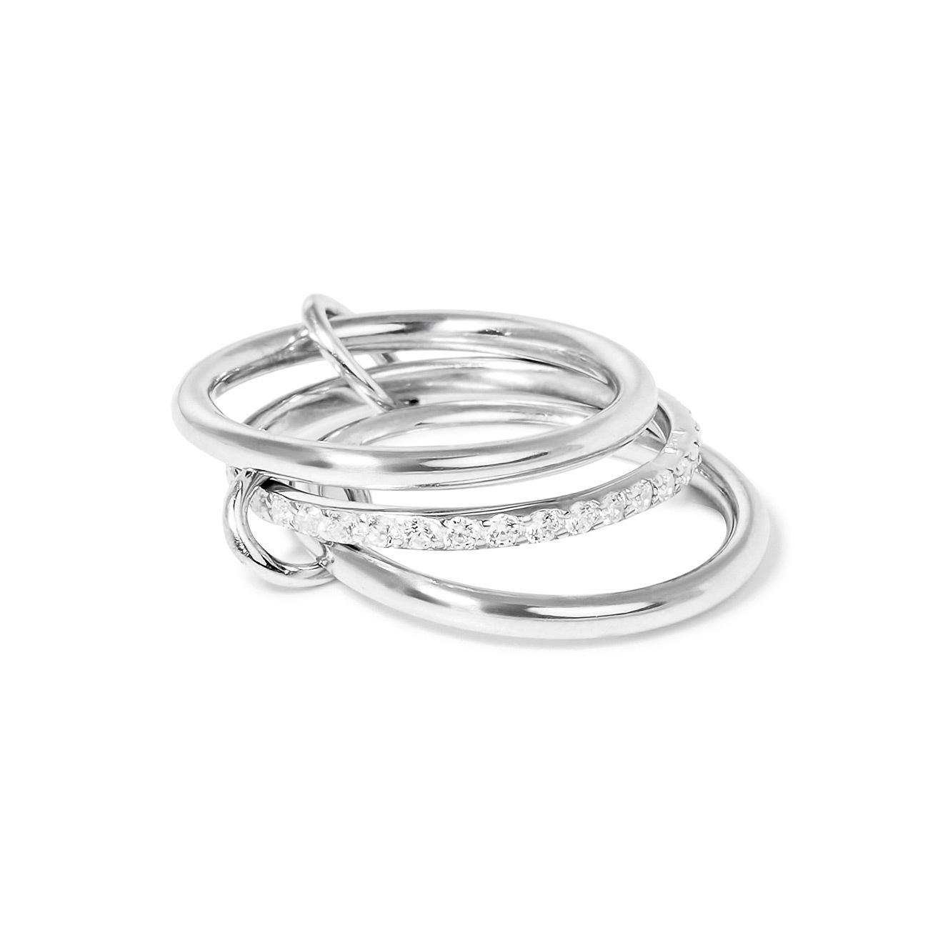 Фото - Wanna?Be! Кольцо «Trinity» из серебра с фианитами кольцо змейка с фианитами из серебра