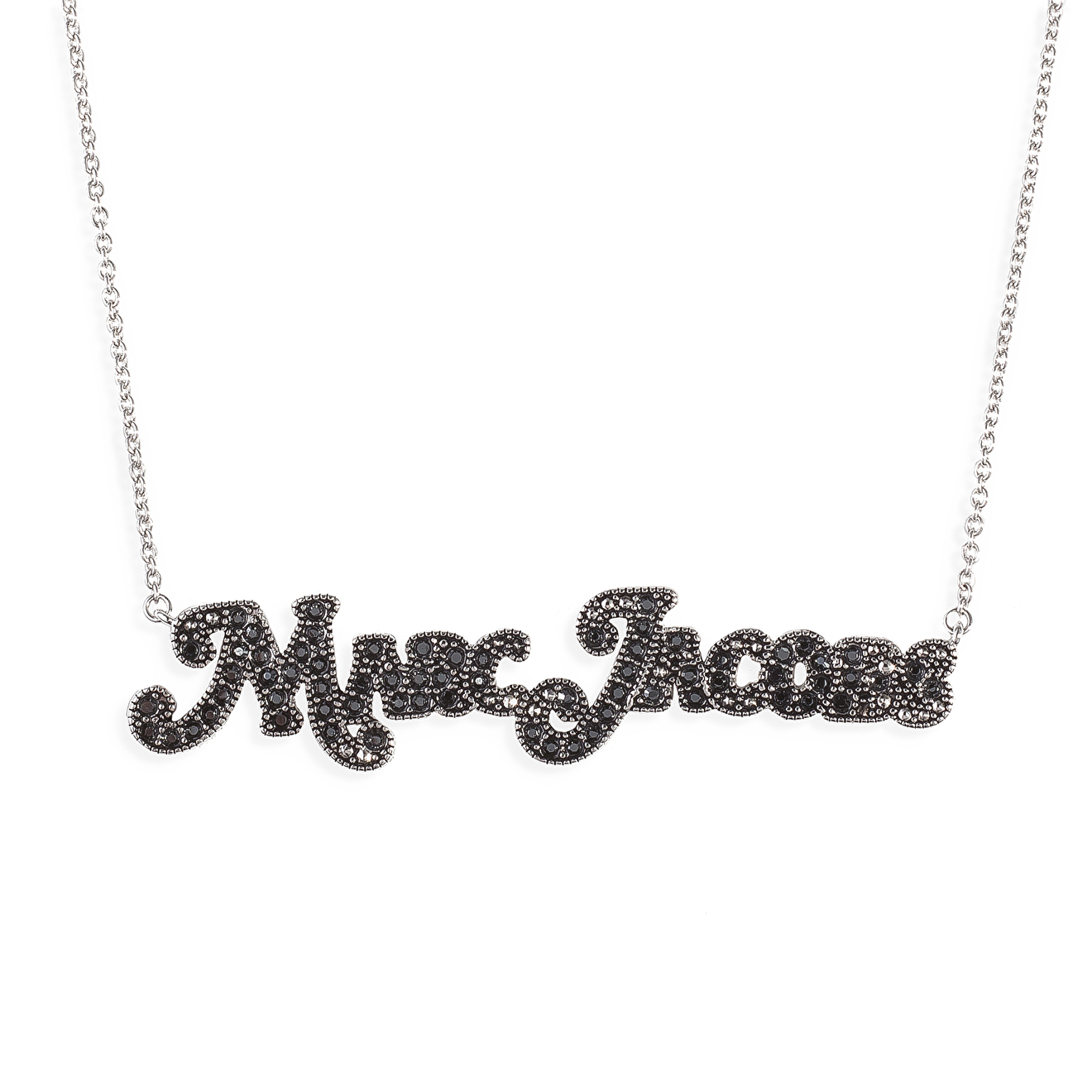 Marc Jacobs Серебристая подвеска Marc Jacobs с кристаллами Swarovski на цепочке недорого