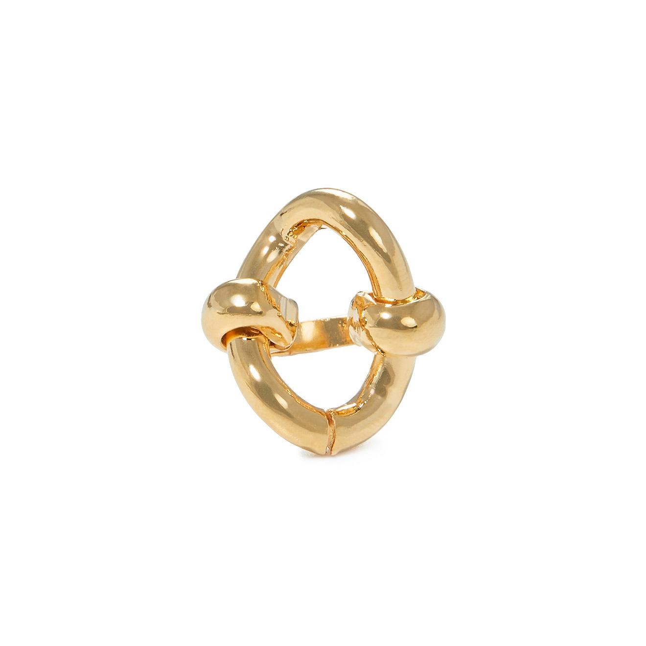 Aqua Золотистое кольцо-звено