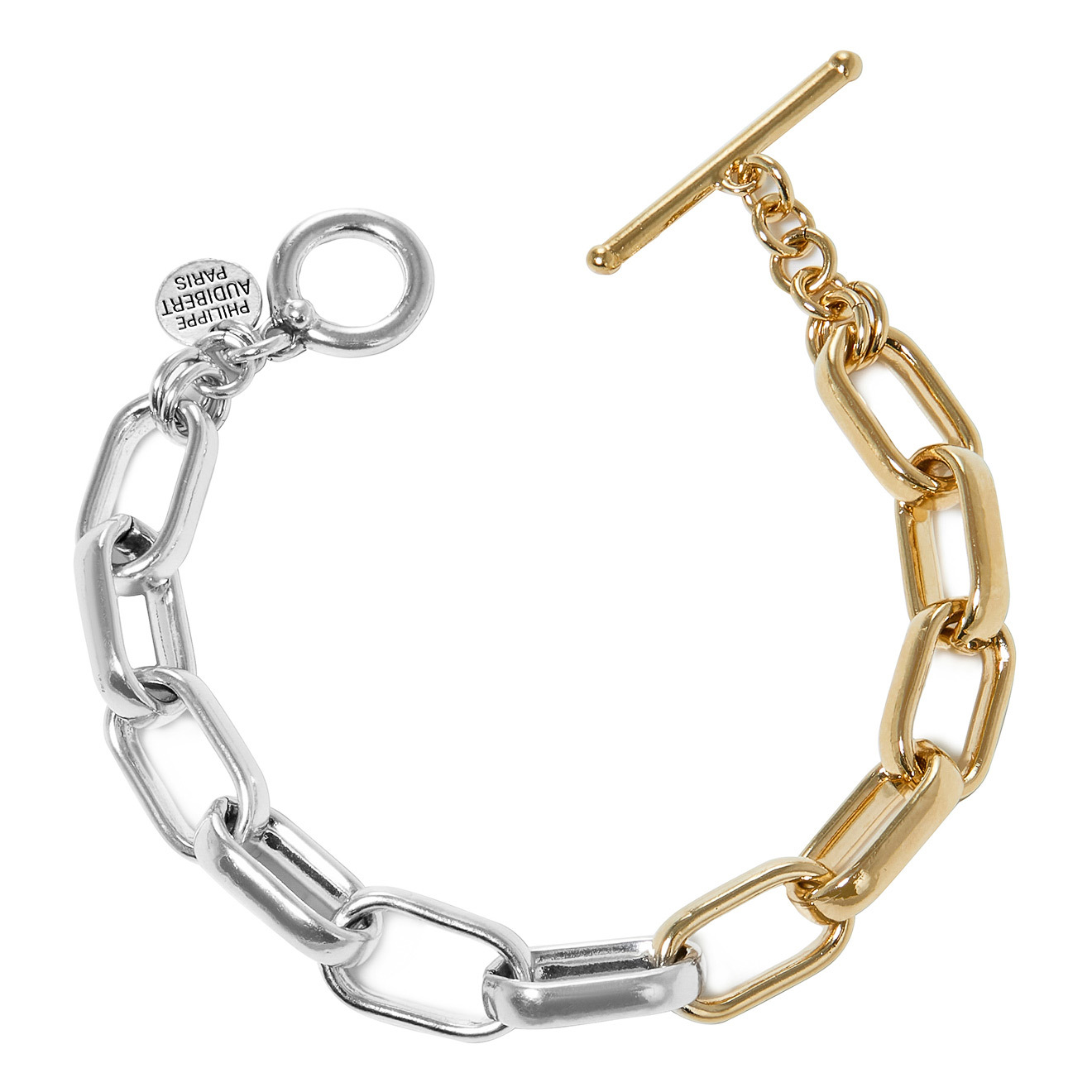 Philippe Audibert Биколорный браслет-цепь Peran philippe audibert биколорный браслет ginger