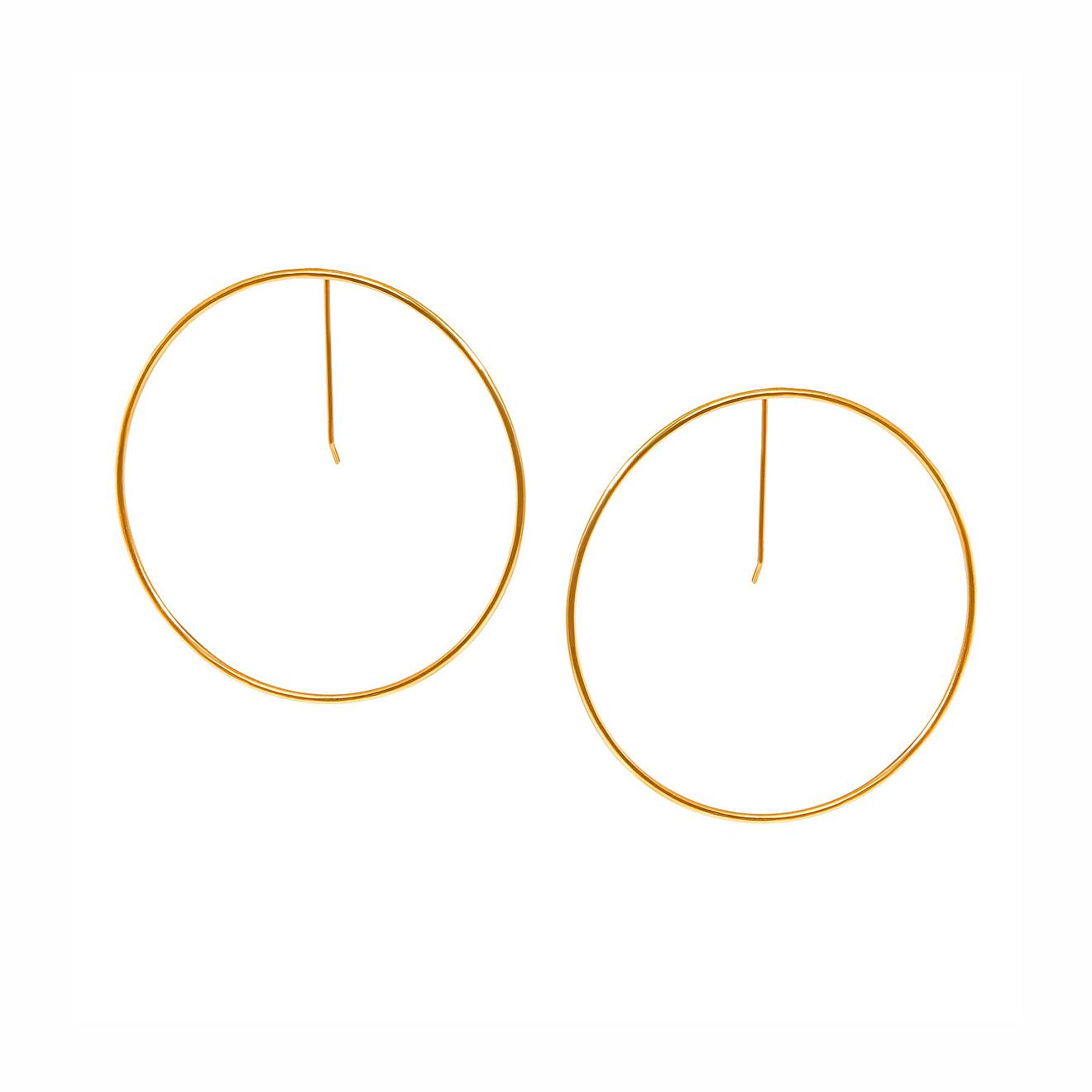 Khoshtrik Позолоченные серьги-круги
