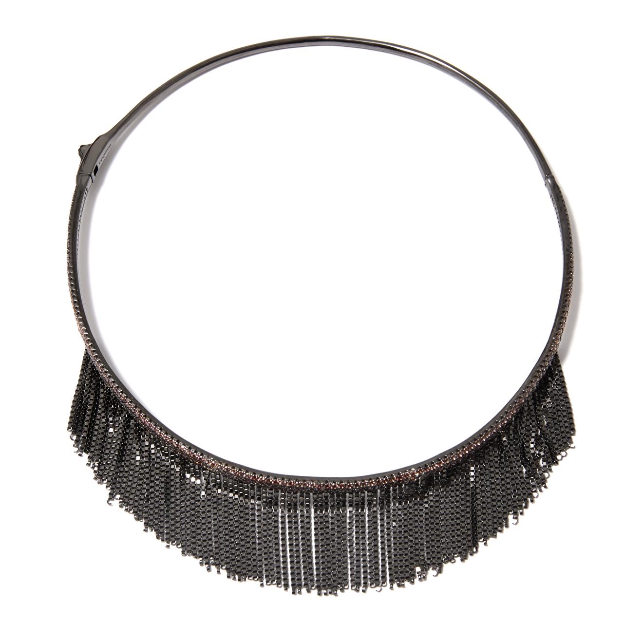 Dzhanelli Jewellery Черненый чокер с цепочками, из коллекции Embrace