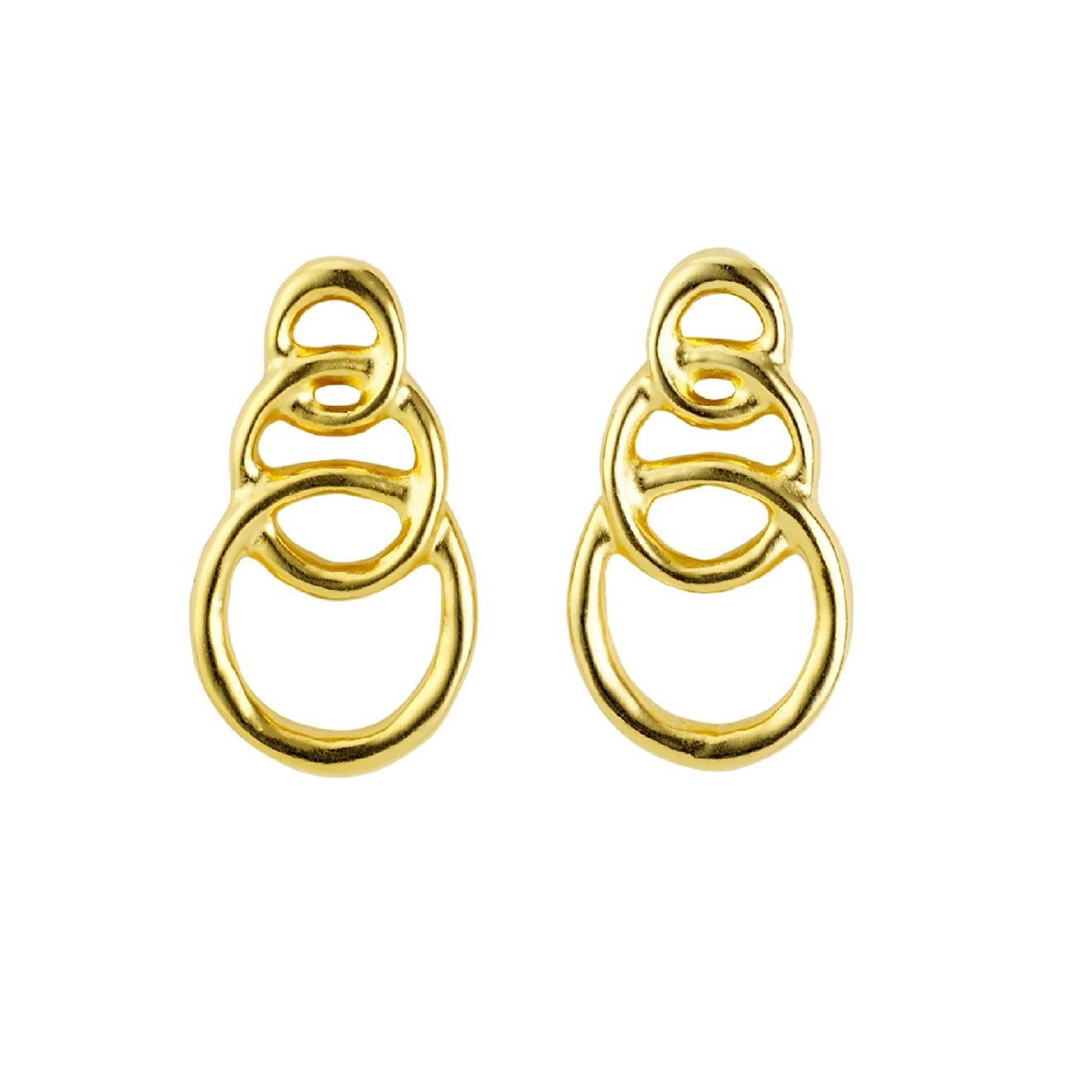 Unode50 Позолоченные серьги Chain by chain, из коллекции Gold