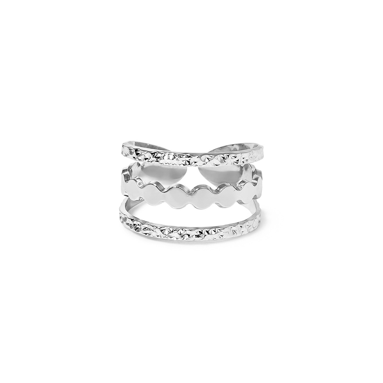 Mya Bay Покрытое серебром кольцо Manhattan-Rounds