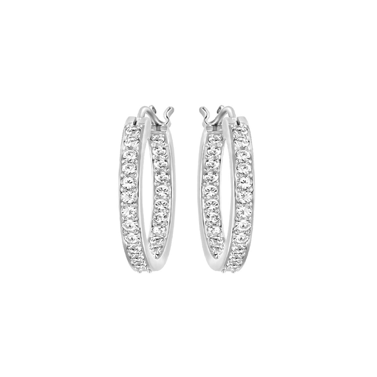 Swarovski Серебристые серьги-кольца SOMMERSET кольца swarovski 5424994