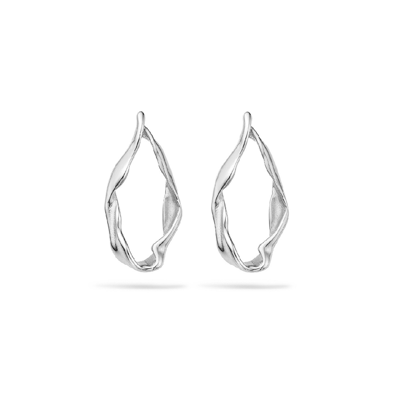 Mya Bay Покрытые серебром серьги-овалы Jenna