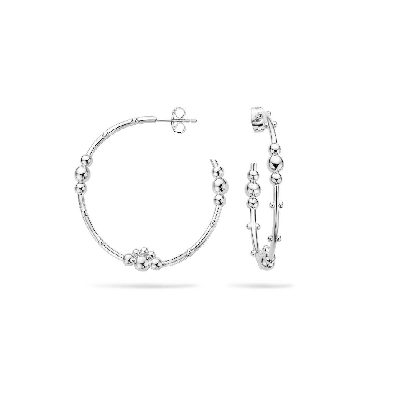 Mya Bay Покрытые серебром серьги-кольца Samula