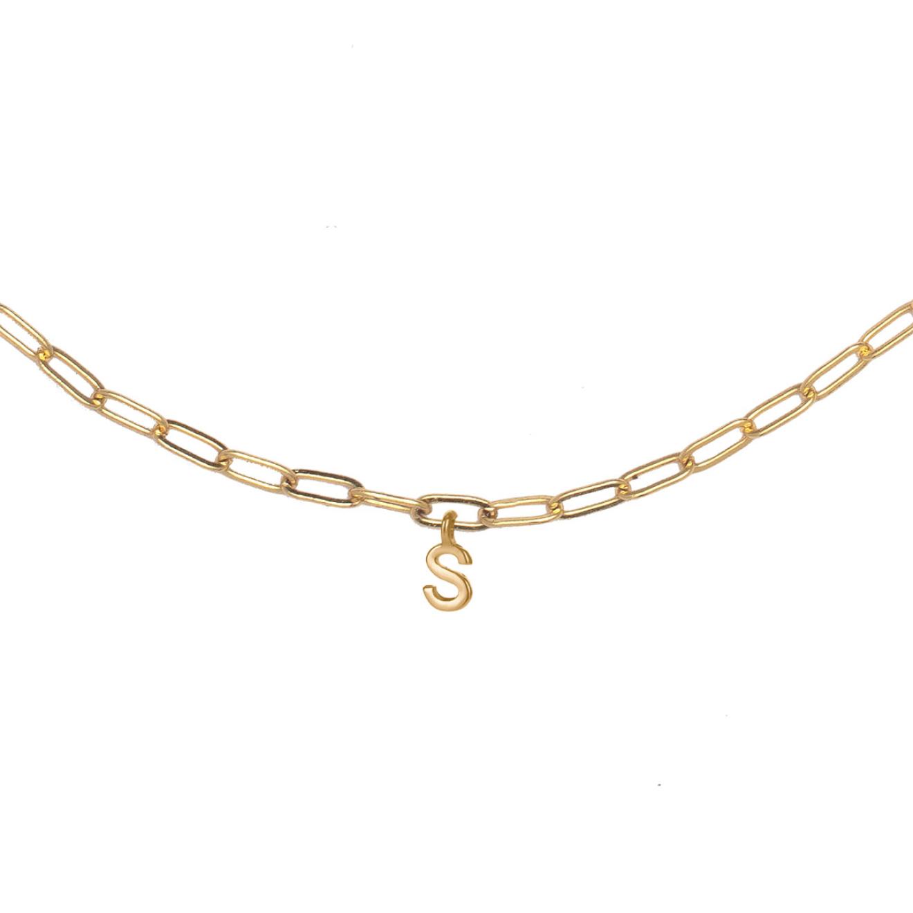 Фото - Ringstone Позолоченное колье-цепь с буквой S ringstone жемчужное ожерелье с буквой s ringstone