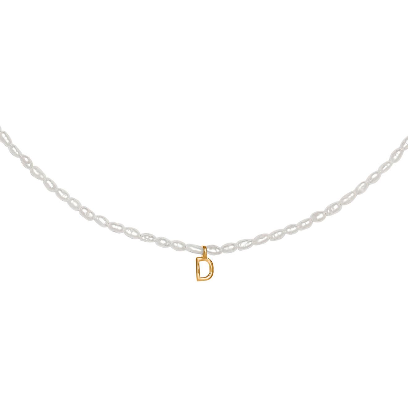 Фото - Ringstone Жемчужное ожерелье из серебра с позолоченной буквой D ringstone жемчужное ожерелье с буквой s ringstone