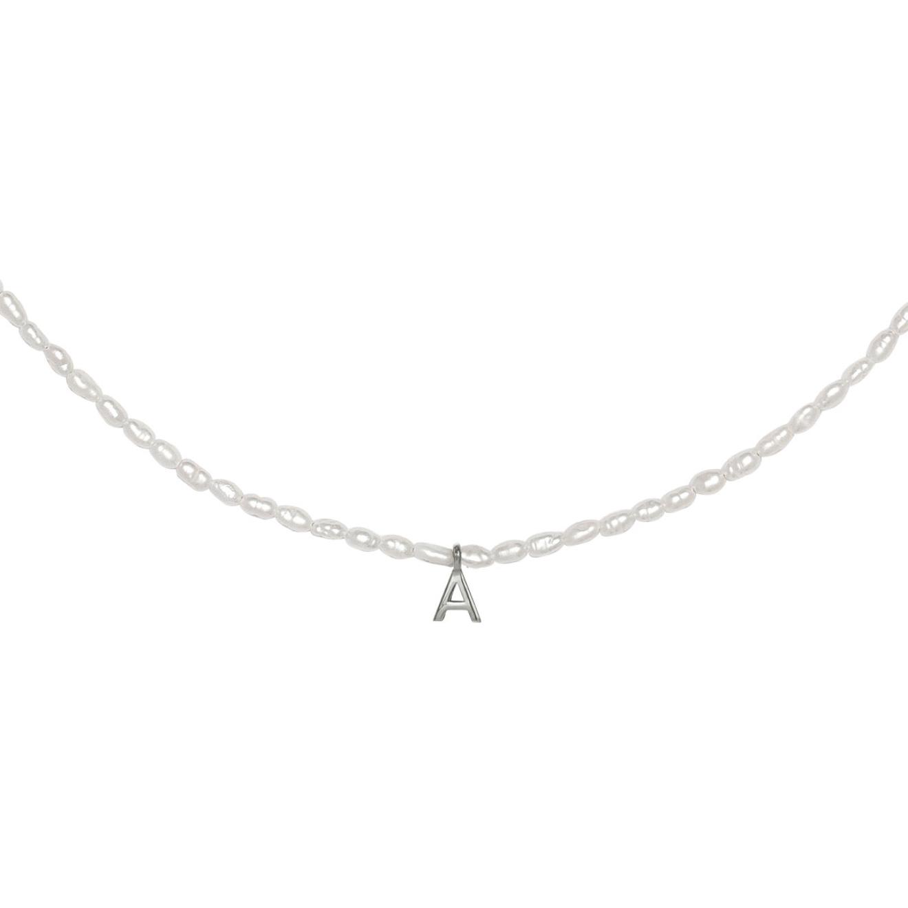 Фото - Ringstone Жемчужное ожерелье из серебра с буквой A ringstone жемчужное ожерелье с буквой s ringstone