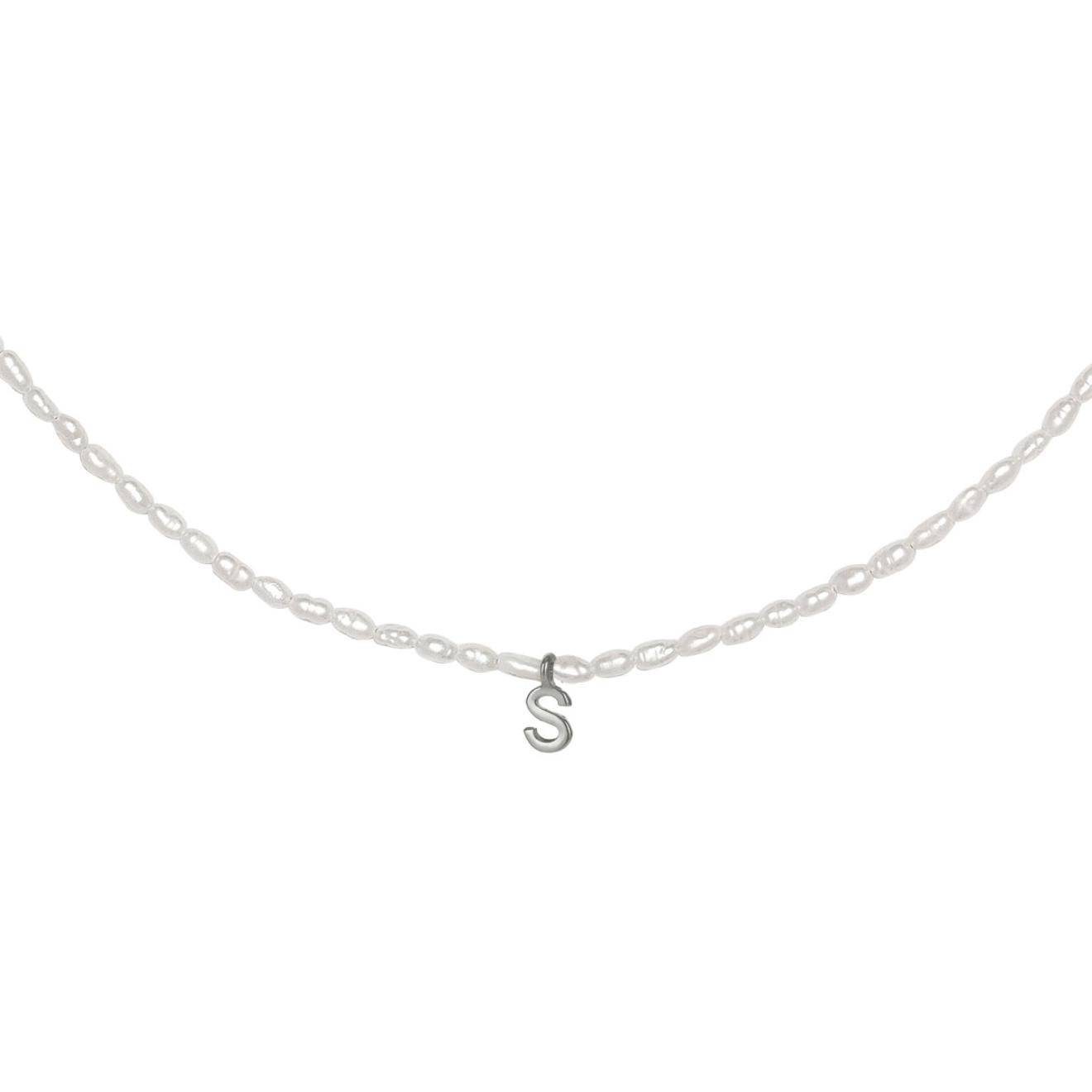 Фото - Ringstone Жемчужное ожерелье с буквой S ringstone жемчужное ожерелье с буквой s ringstone