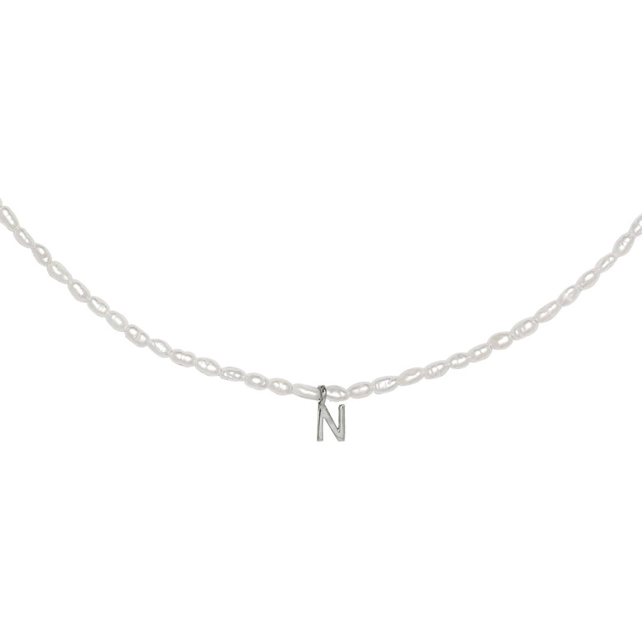 Фото - Ringstone Жемчужное ожерелье из серебра с буквой N ringstone жемчужное ожерелье с буквой s ringstone