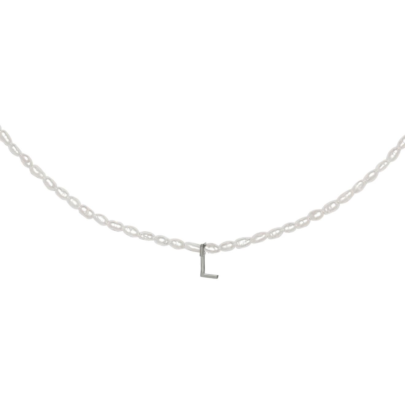 Фото - Ringstone Жемчужное ожерелье из серебра с буквой L ringstone жемчужное ожерелье с буквой s ringstone