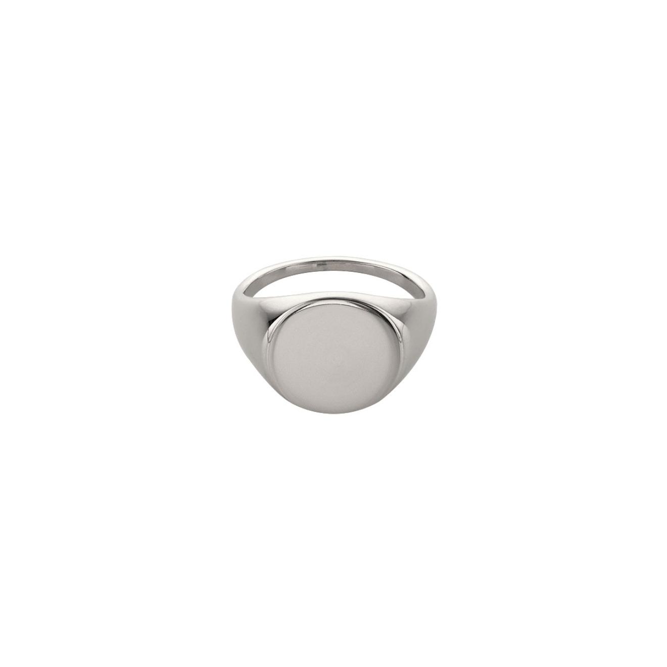 Ringstone Кольцо-печатка Blanc из серебра