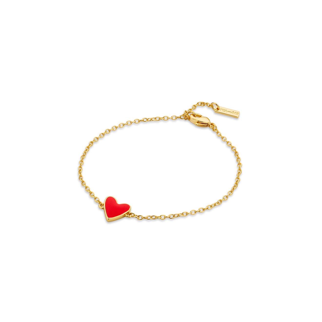 Mya Bay Позолоченный браслет с красным сердцем Red heart Or