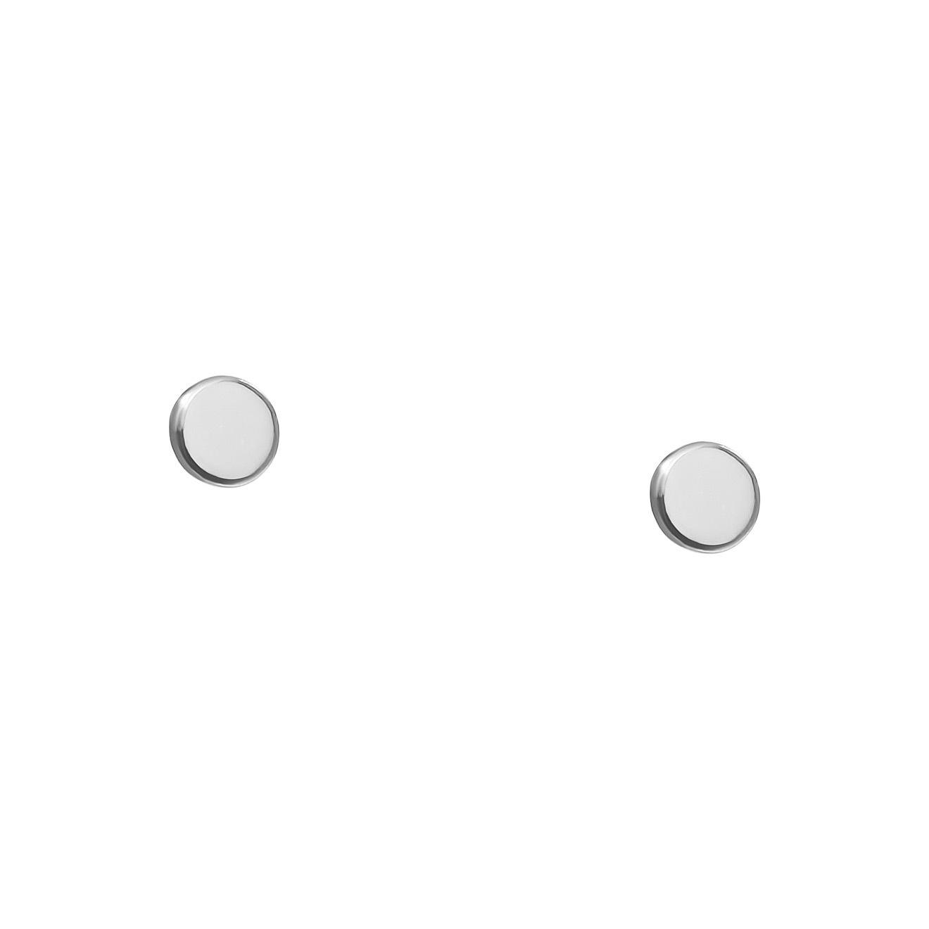 Avgvst Пусеты-точки из серебра с белой эмалью