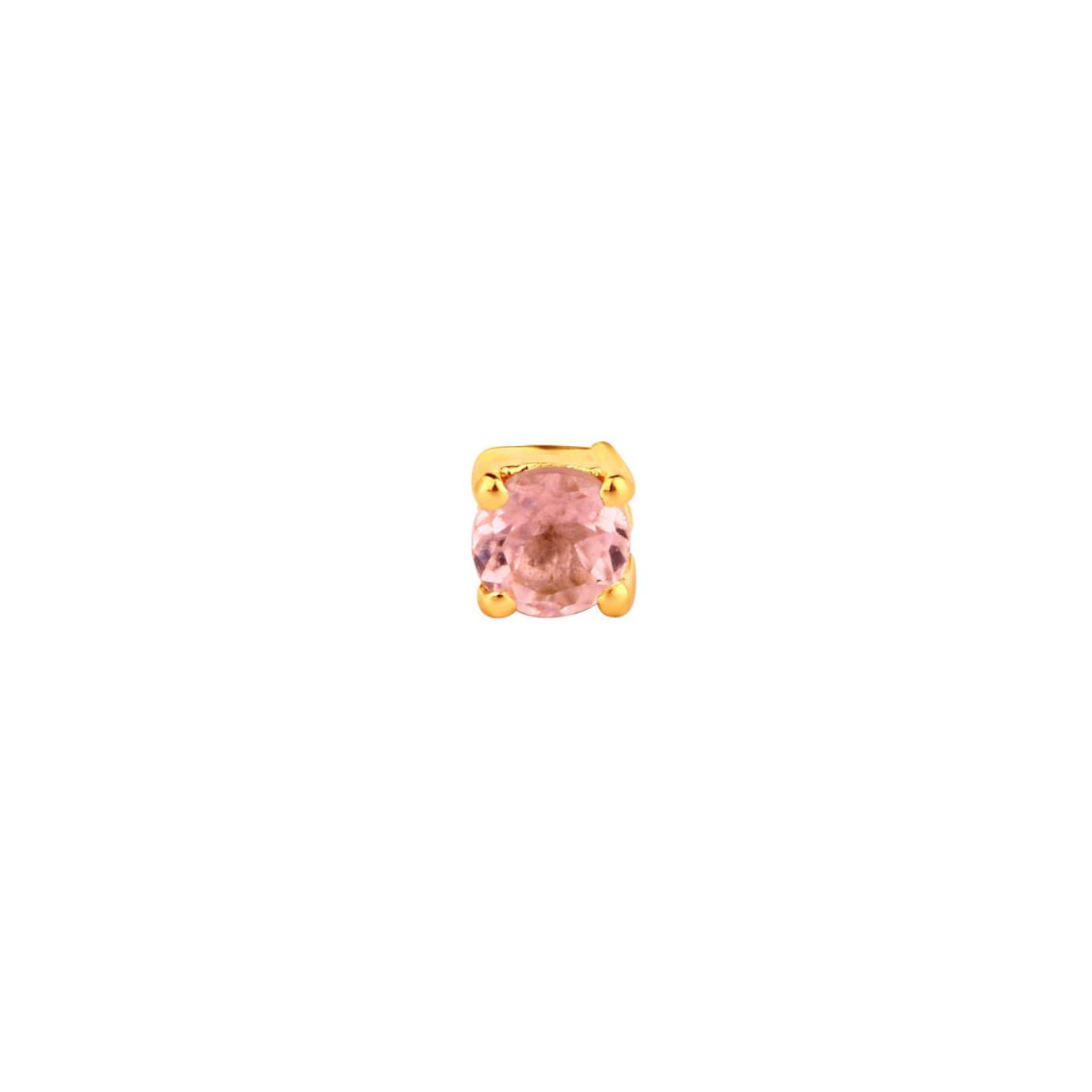 LAV'Z Позолоченная моносерьга из серебра с круглым сапфиром, из коллекции Nebula lav z позолоченная моносерьга звено из коллекции nebula lav z
