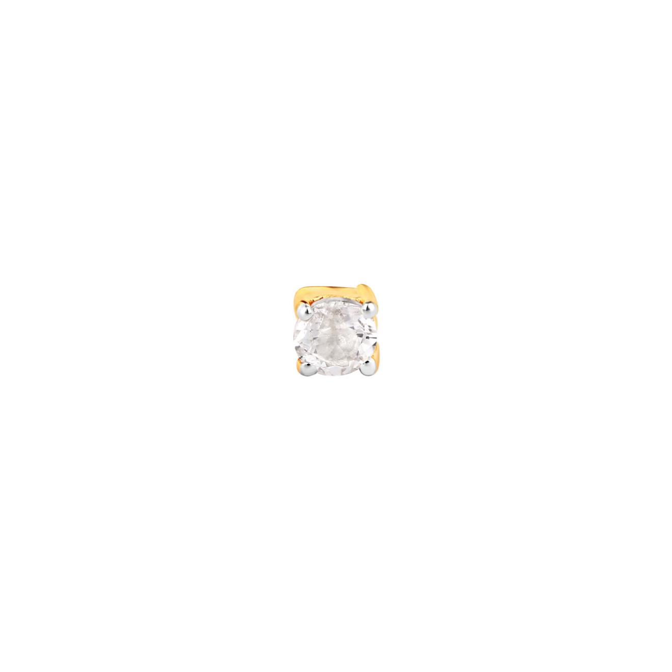 LAV'Z Позолоченная моносерьга из серебра с круглым топазом, из коллекции Nebula lav z позолоченная моносерьга звено из коллекции nebula lav z