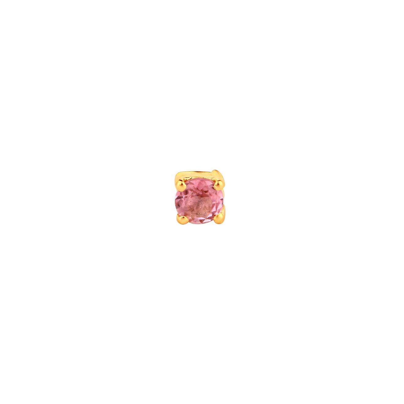 LAV'Z Позолоченная моносерьга из серебра с турмалином, из коллекции Nebula lav z позолоченная моносерьга звено из коллекции nebula lav z