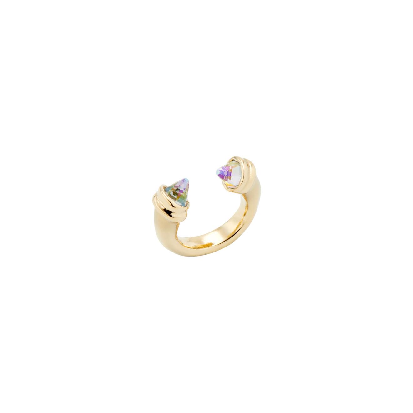 Unode50 Позолоченное кольцо с кристаллами Swarovski Crystal Clear