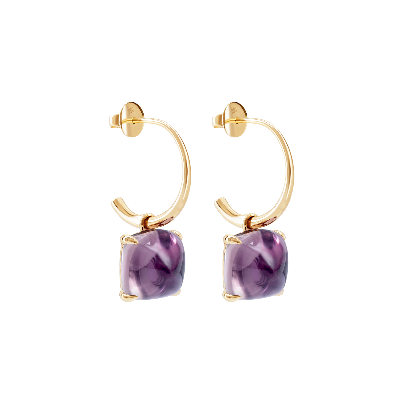 Leonie Jewelry Серьги из золота Kisses Maxi с аметистом
