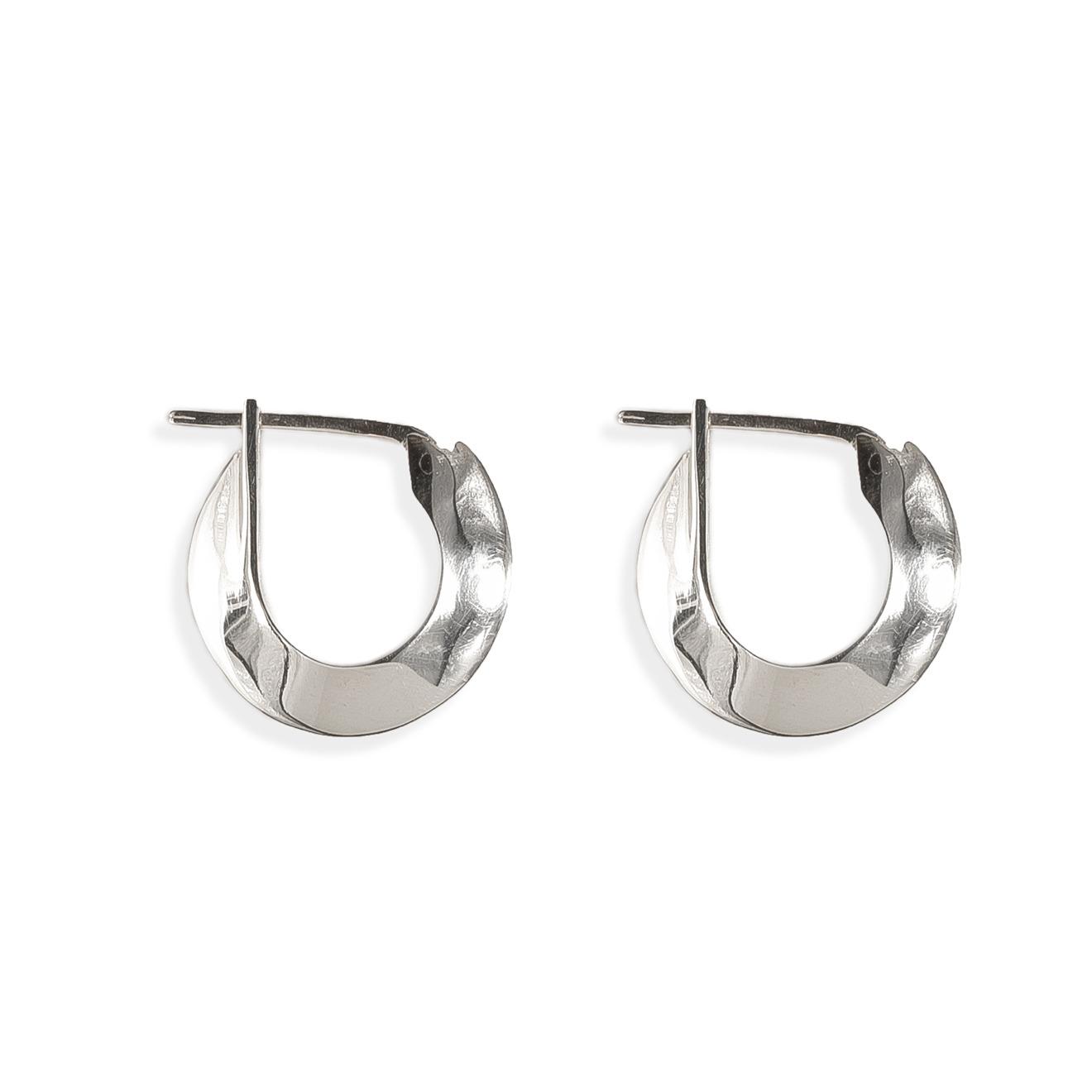APRIL Серьги-кольца из серебра BASE01 S кольца sokolov 713382 s