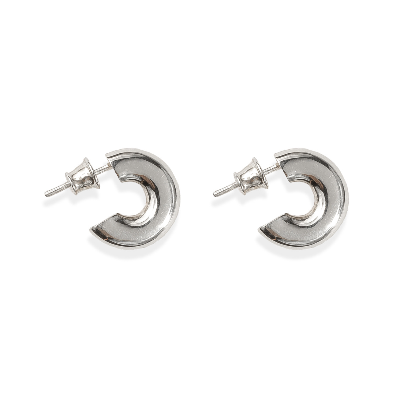 APRIL Маленькие серьги-кольца из серебра BASE04 S кольца sokolov 713382 s