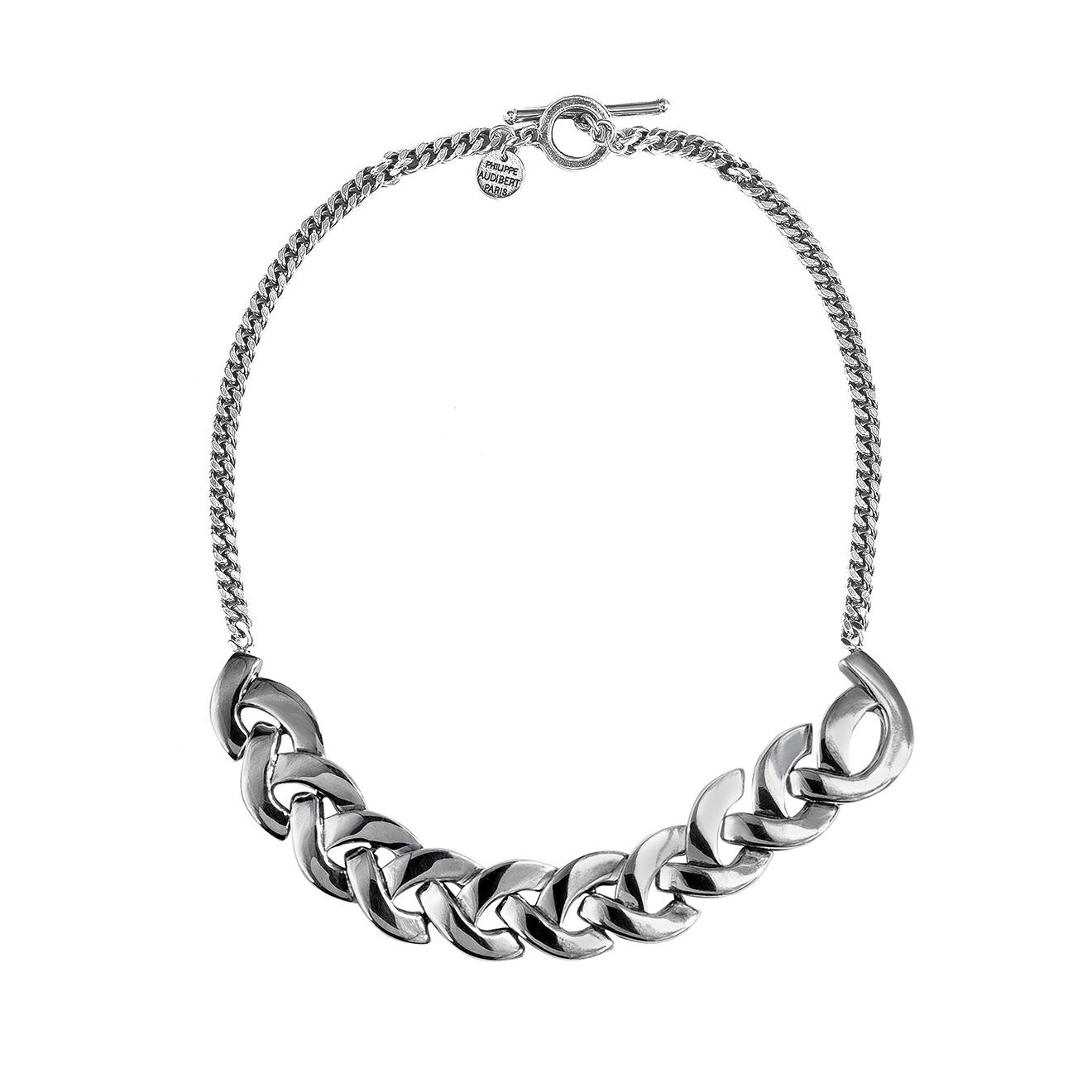 Philippe Audibert Покрытое серебром колье-цепь Colby