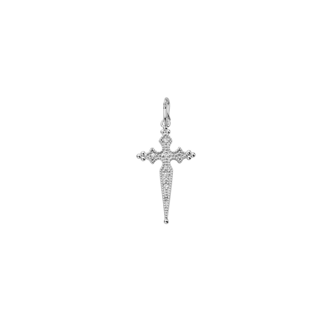 Mya Bay Покрытая серебром подвеска-крест с кристаллами Juliette
