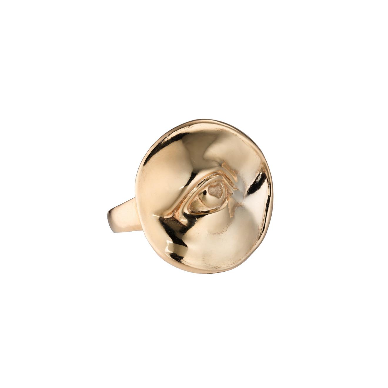 Caviar Jewellery Позолоченное кольцо-глаз STRAIGHT IN THE EYE