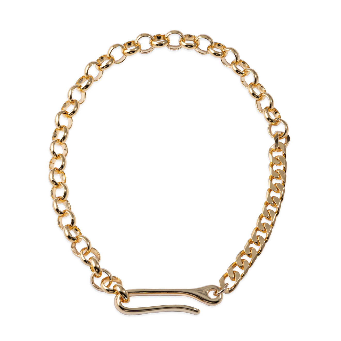 Lisa Smith Золотистое колье-цепь с крючком