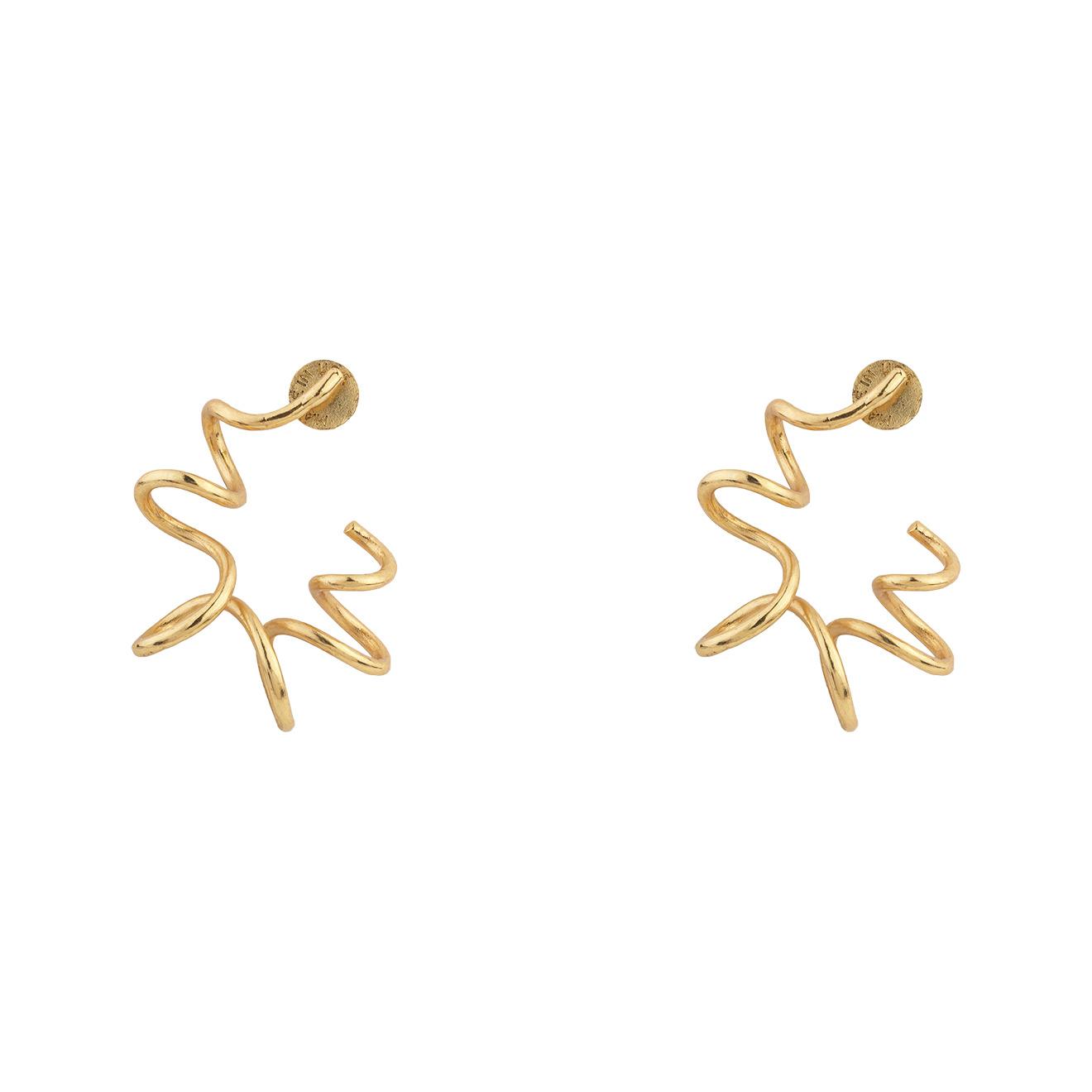 Oscar de la Renta Золотистые серьги-пружинки