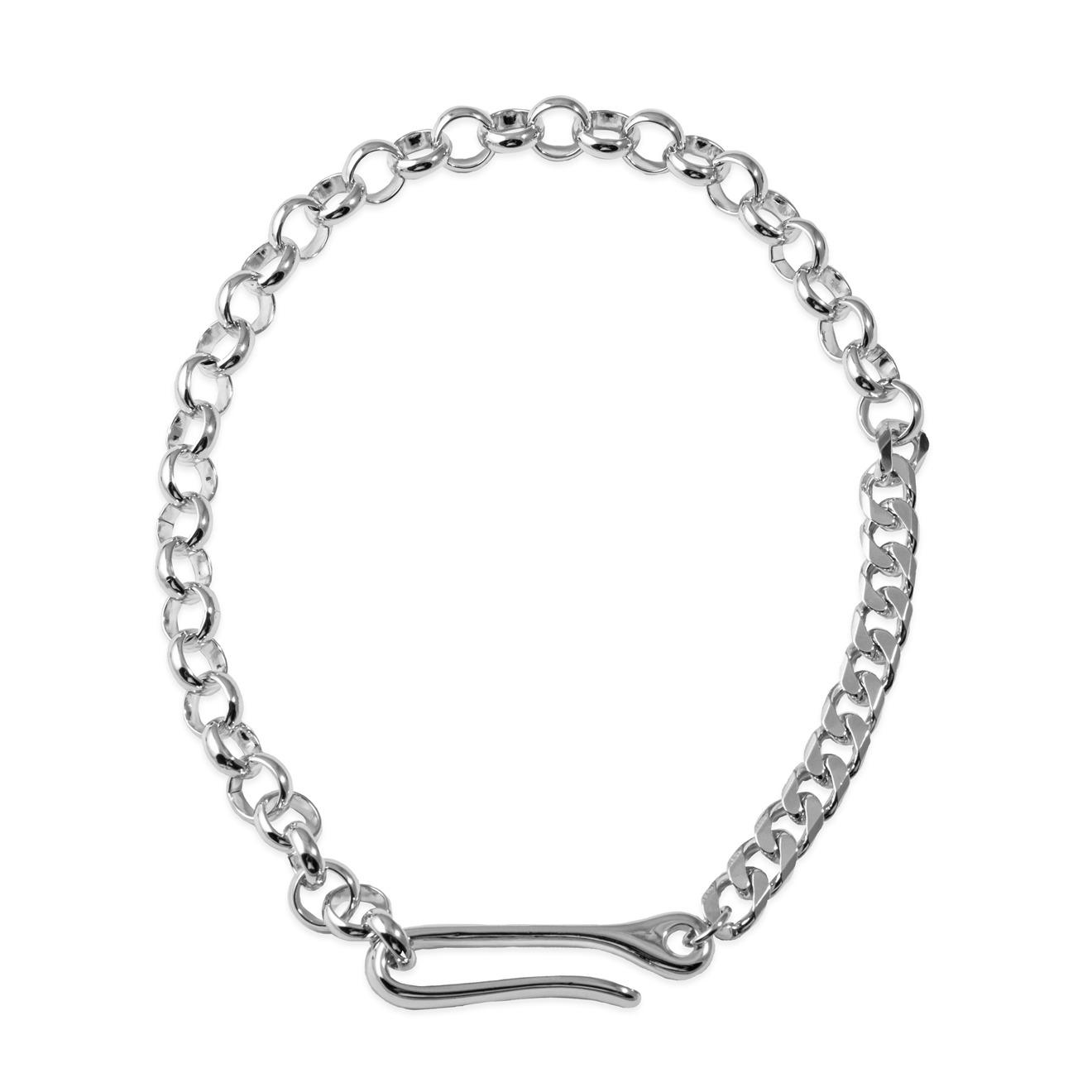 Lisa Smith Серебристое колье-цепь с крючком
