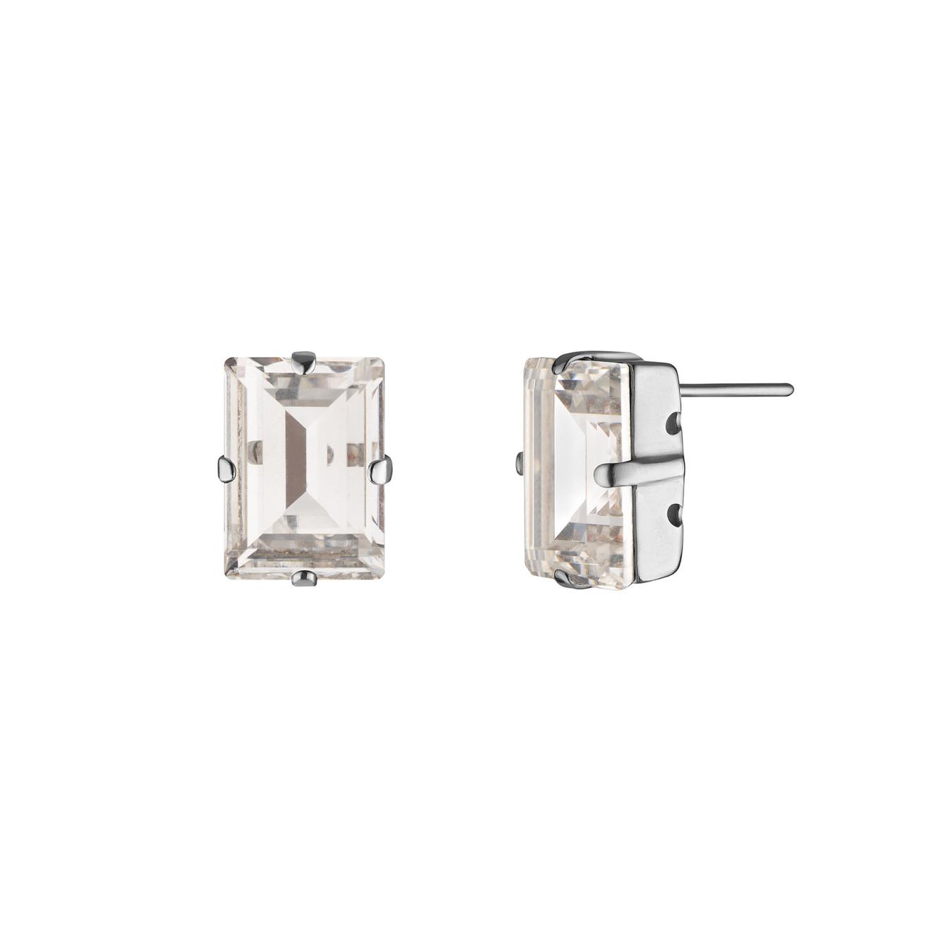 Phenomenal Studio Серебристые серьги с кристаллами Swarovski Step Cut Crystal