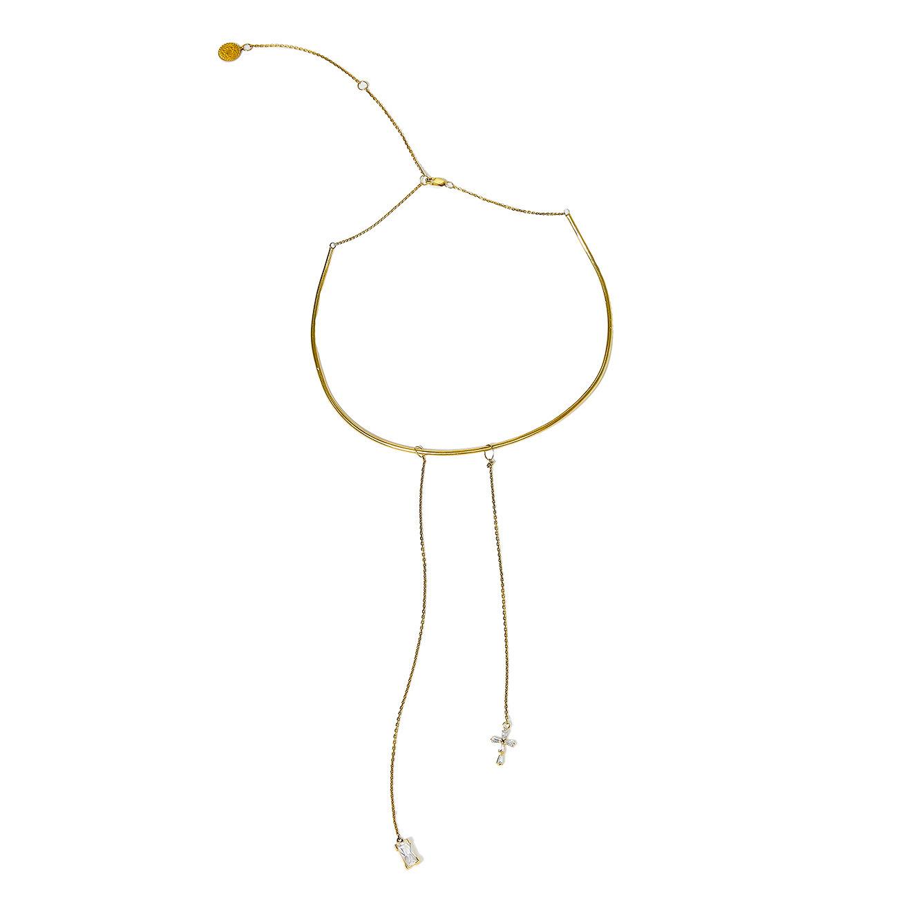 Dzhanelli Jewellery Позолоченный чокер со съемными подвесками