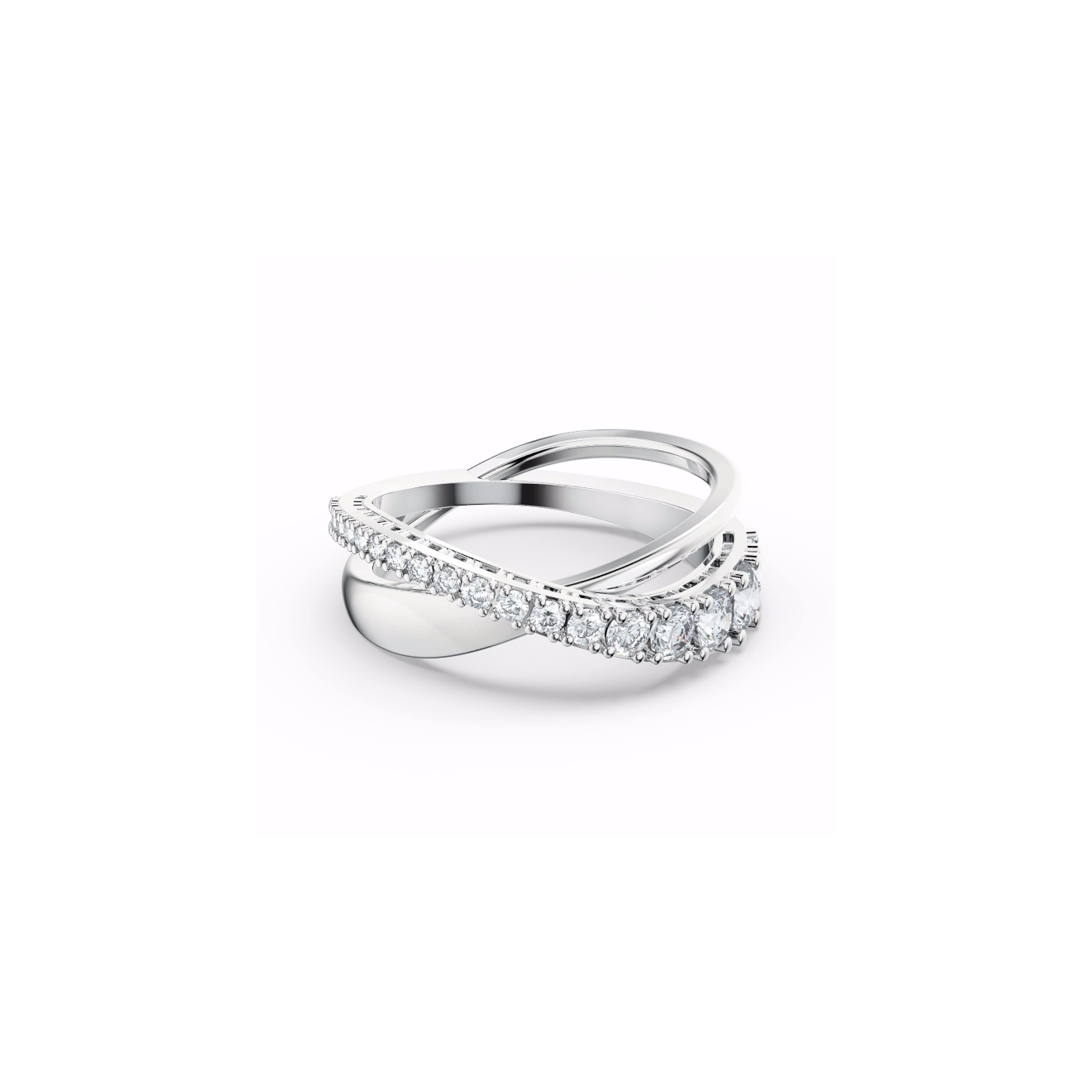 Unode50 Подвеска с кристаллом, покрытая серебром