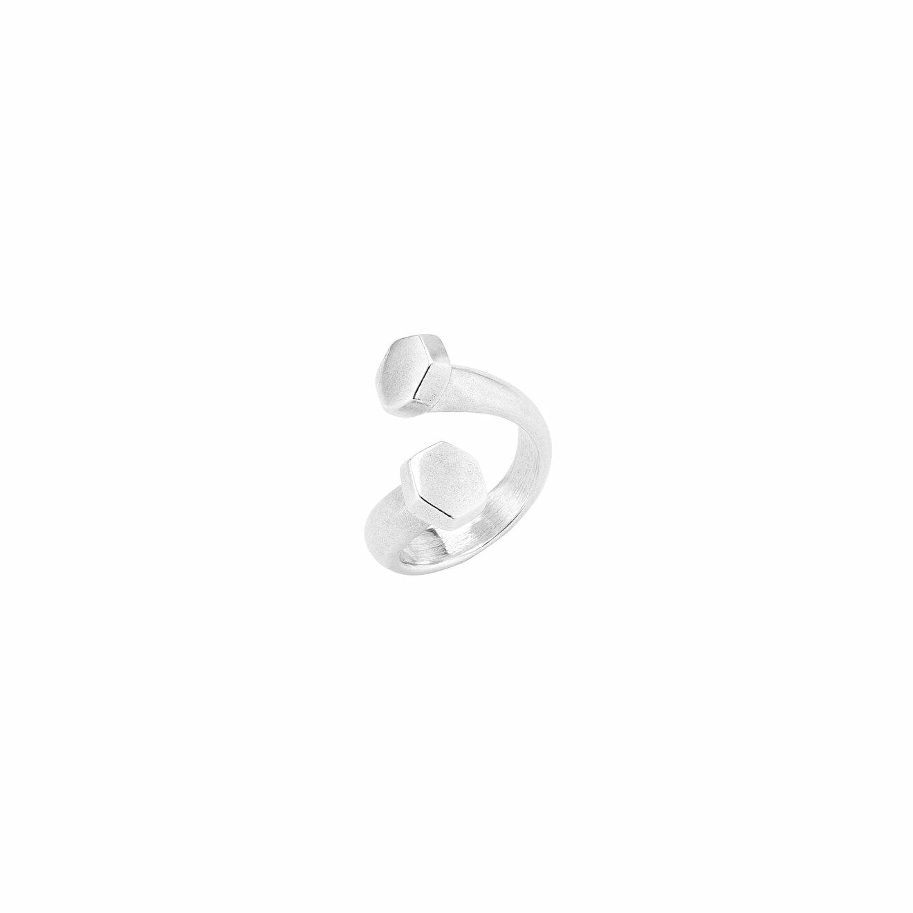 Unode50 Покрытое серебром кольцо в форме гвоздя Determination