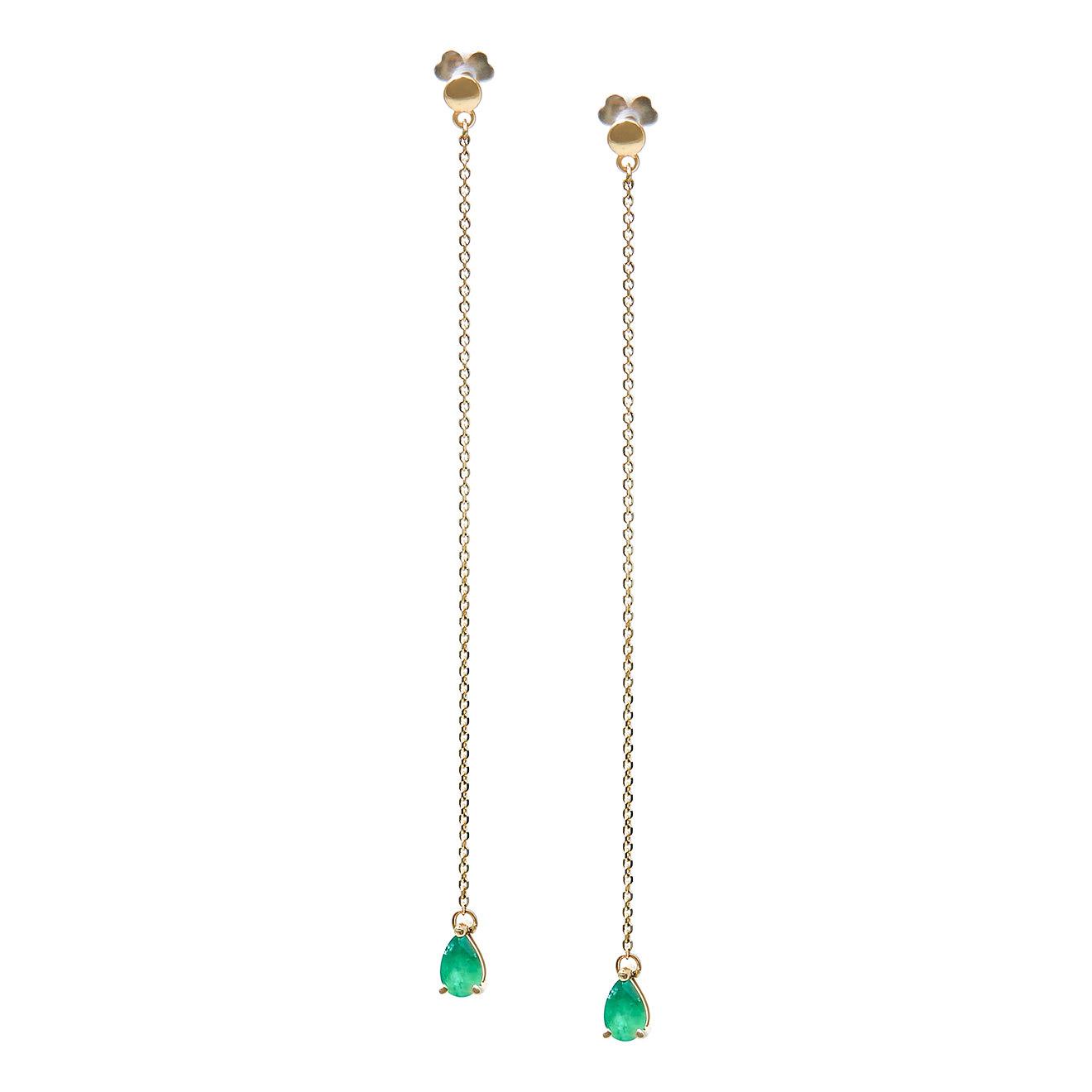 Herald Percy Diamonds Серьги-дорожки из золота с изумрудами